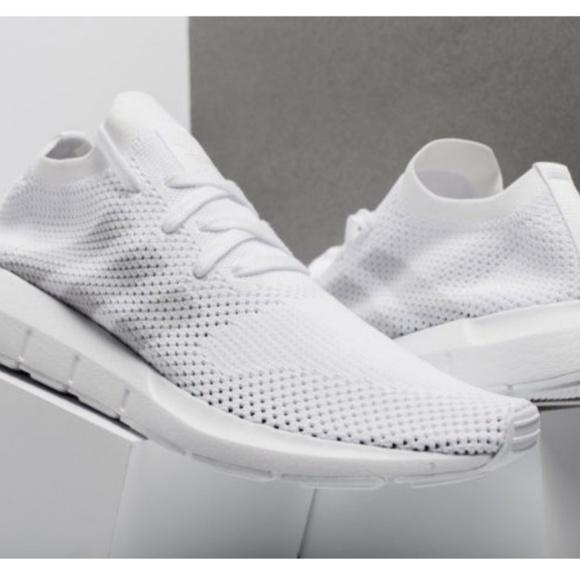 le adidas swift run primeknit poshmark bianco